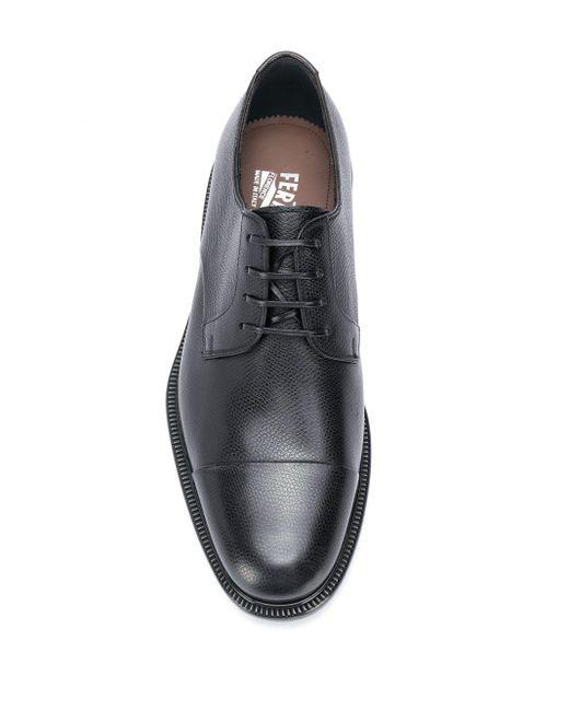 Туфли На Шнуровке Ferragamo для него, цвет: Black