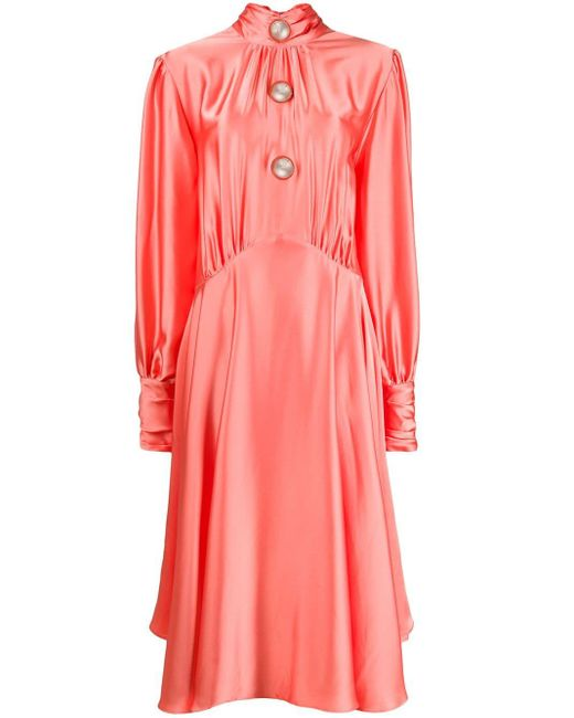 Christopher Kane ハイネックドレス Pink