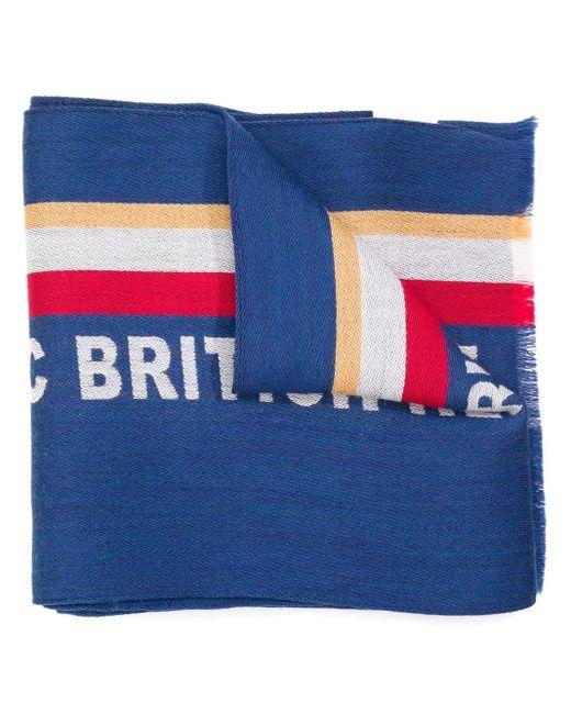 Écharpe à détail de slogan Kent & Curwen pour homme en coloris Blue