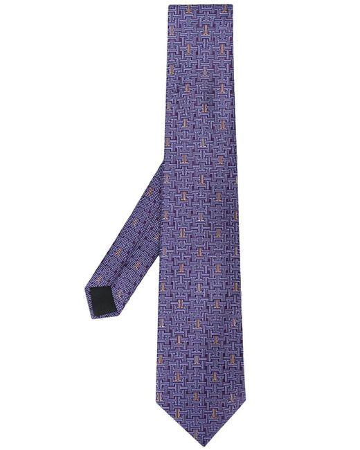メンズ Lanvin パターン ネクタイ Purple