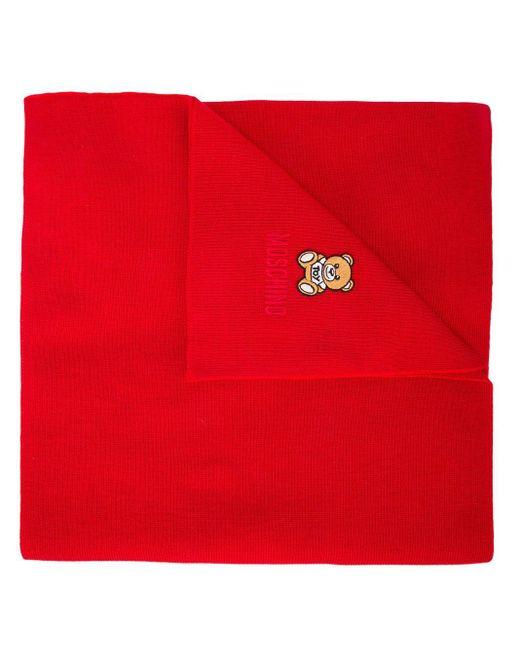 Moschino テディベア スカーフ Red