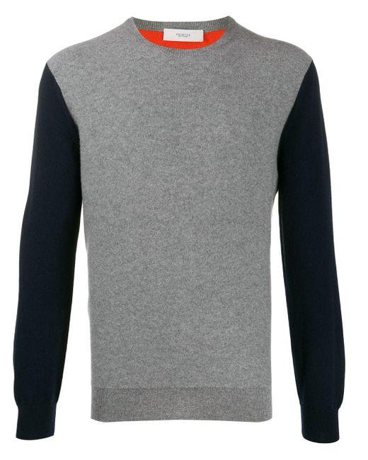 メンズ Pringle of Scotland カラーブロック セーター Gray