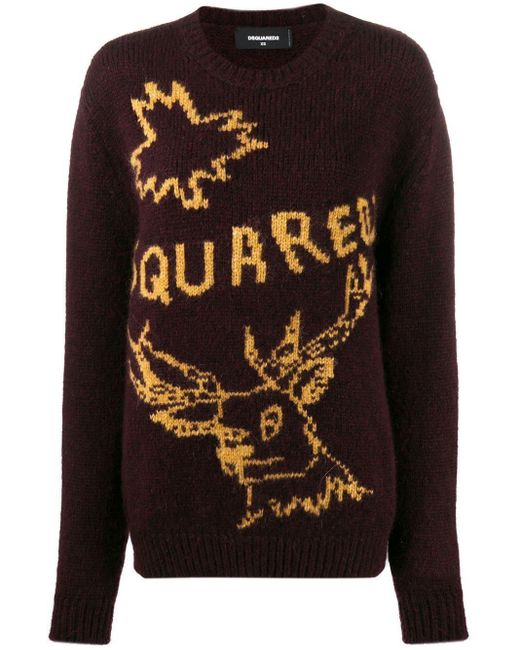DSquared² ロゴ セーター Red