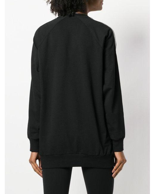 No Ka 'oi Black Oversized Stripe Front Sweatshirt