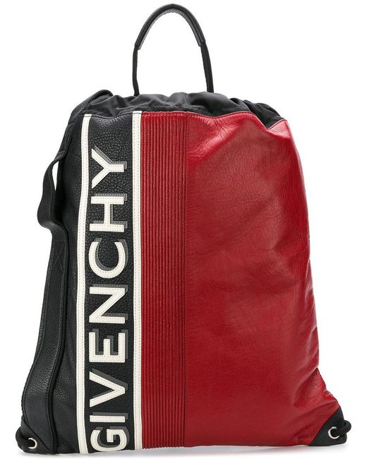Givenchy - Black Logo Colour-block Backpack for Men - Lyst ... dacd96ffaa2b5