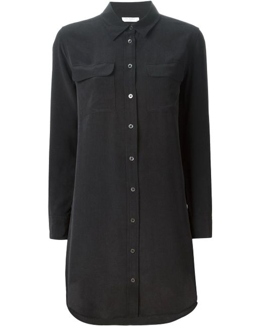 Equipment Black Oversized Shirt