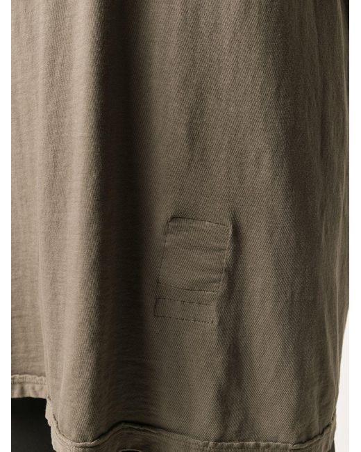 Rick Owens Drkshdw ロングライン Tシャツ Gray