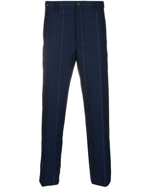 メンズ Lanvin ストライプ テーラードパンツ Blue