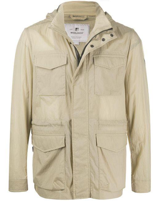 メンズ Woolrich パッチポケット ジャケット Natural