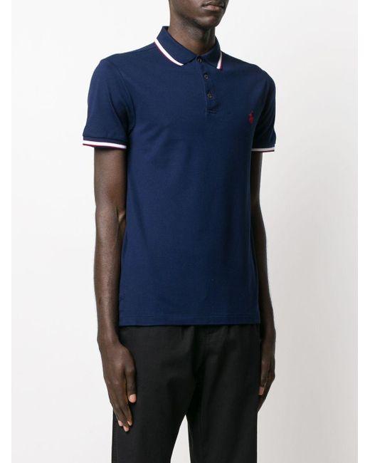 メンズ Polo Ralph Lauren ストライプディテール ポロシャツ Blue