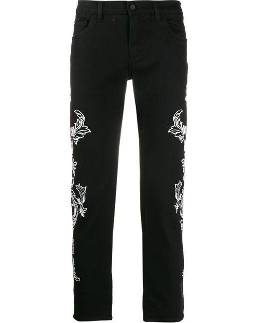 メンズ Dolce & Gabbana プリント スキニージーンズ Black