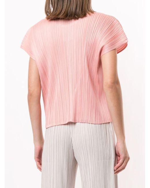 Pleats Please Issey Miyake プリーツ Tシャツ Pink