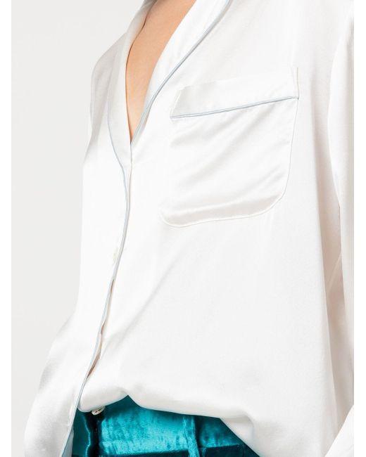 Рубашка С Длинными Рукавами Kiki de Montparnasse, цвет: White