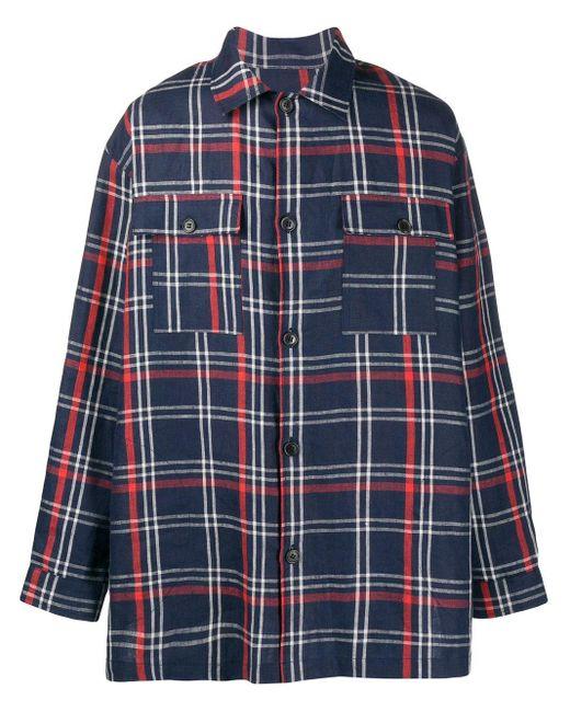 メンズ Henrik Vibskov Miami チェックシャツ Blue