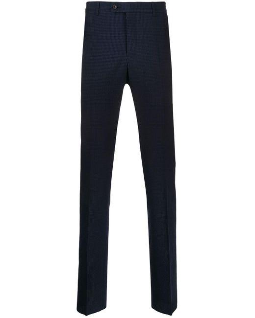 メンズ Lanvin チェック テーラードパンツ Blue
