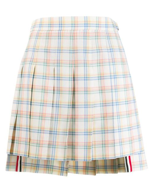 Thom Browne プリーツ ミニスカート Multicolor