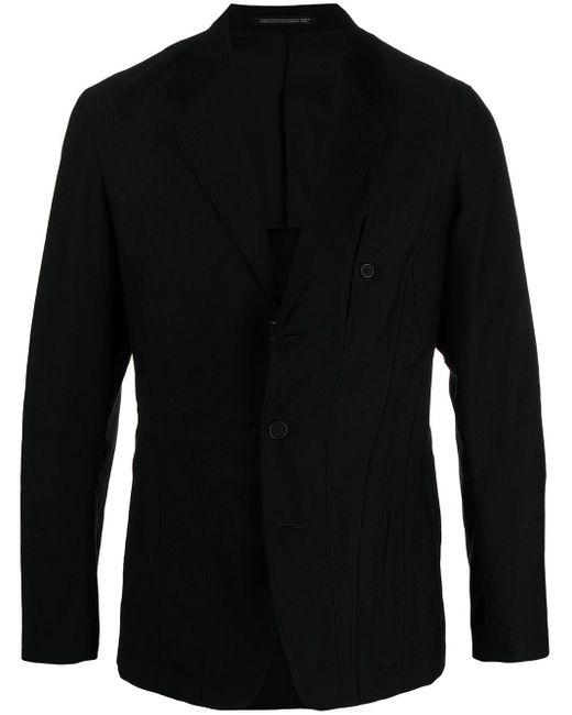 Yohji Yamamoto Black Panelled Stitch Blazer for men