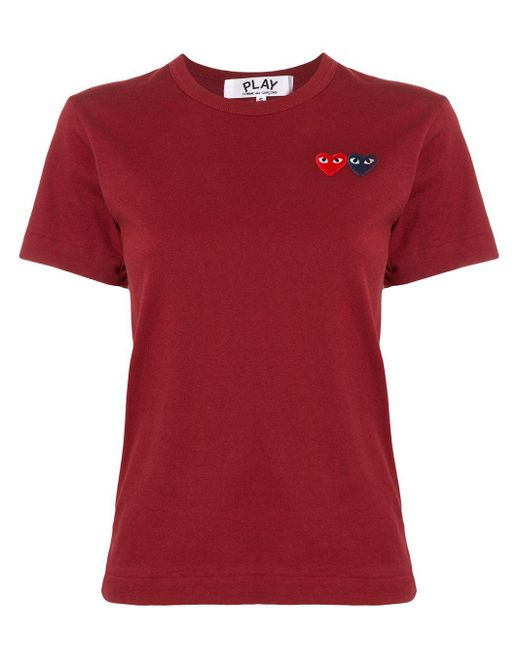 COMME DES GARÇONS PLAY ロゴ Tシャツ Red