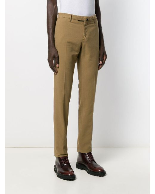 Chino slim di Incotex in Brown da Uomo
