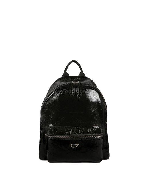 メンズ Giuseppe Zanotti ロゴ バックパック Black
