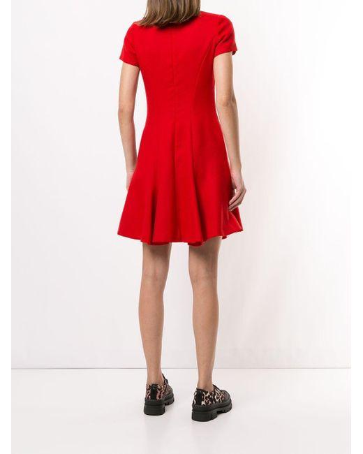 Dior プレオウンド フレアドレス Red