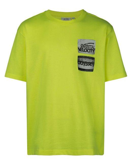 メンズ CALVIN KLEIN JEANS EST. 1978 プリント Tシャツ Yellow