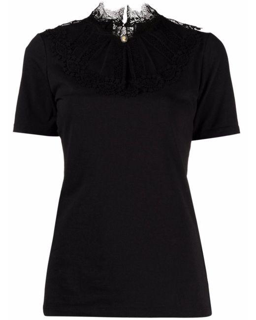 Ermanno Scervino レースネック Tシャツ Black