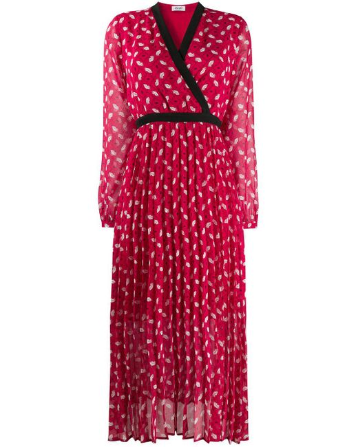 Liu Jo プリント ドレス Red