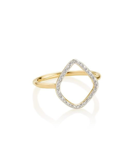 Monica Vinader Metallic Riva Hoop Ring