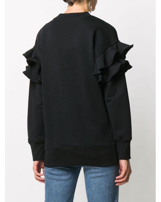 Moschino ラッフルスリーブ スウェットシャツ Black