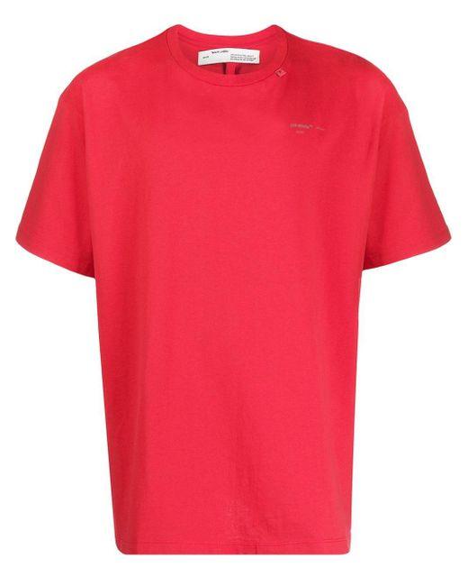 メンズ Off-White c/o Virgil Abloh ショートスリーブ Tシャツ Red