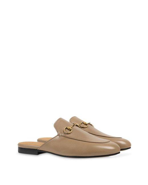 Слиперы Princetown Gucci, цвет: Brown