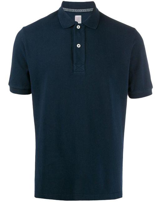 メンズ Eleventy スリムフィット ポロシャツ Blue