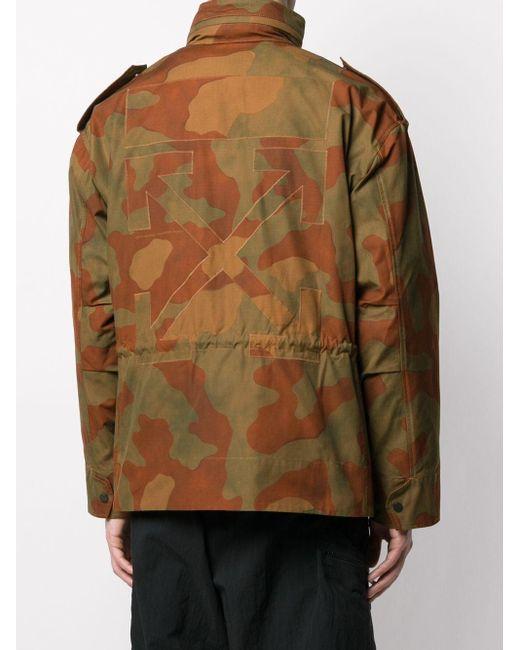 Куртка С Камуфляжным Принтом Off-White c/o Virgil Abloh для него, цвет: Green