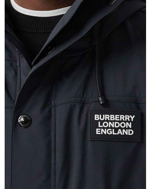 Куртка С Капюшоном И Нашивкой-логотипом Burberry для него, цвет: Black