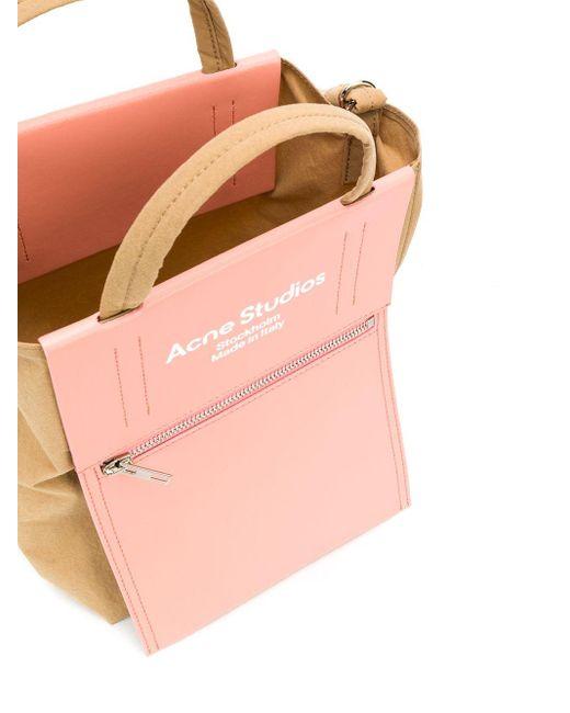 Sac cabas à logo imprimé Acne en coloris Pink