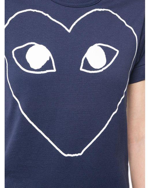 COMME DES GARÇONS PLAY ロゴ Tシャツ Blue