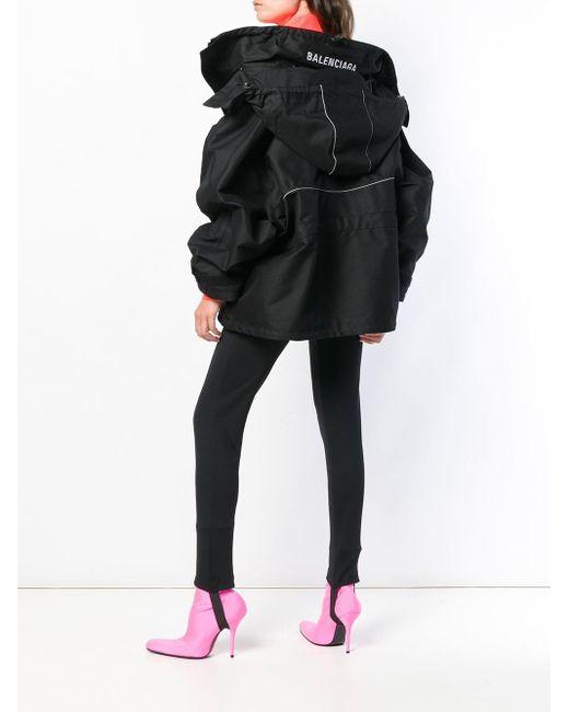 Balenciaga スウィング パーカーコート Black
