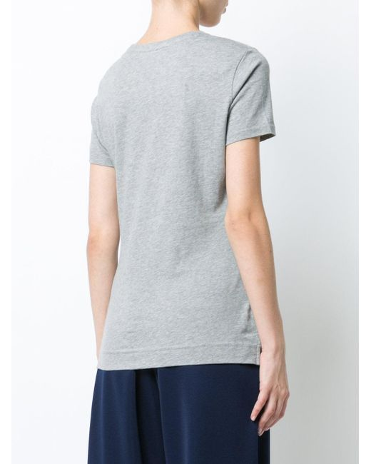 Lyst adam lippes round neck t shirt in gray for Adam lippes t shirt