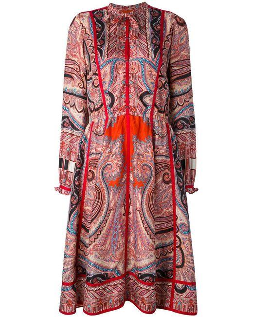 Etro | Red Paisley Shirt Dress | Lyst