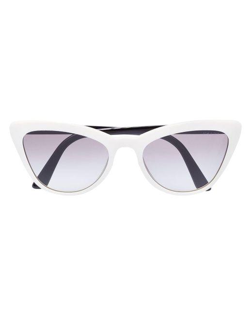 Солнцезащитные Очки В Оправе 'кошачий Глаз' Prada, цвет: White