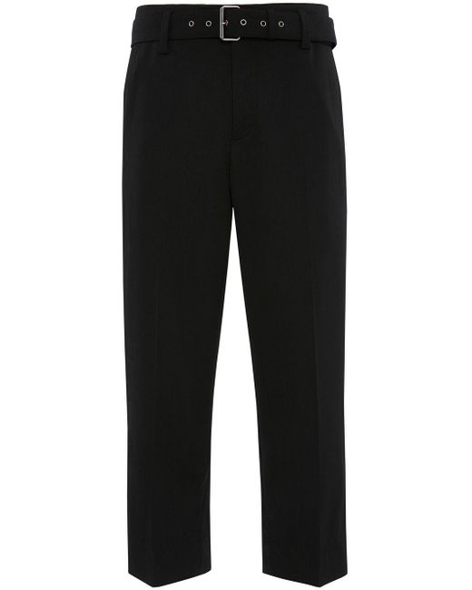 メンズ J.W. Anderson Belted Tailored Trousers Black