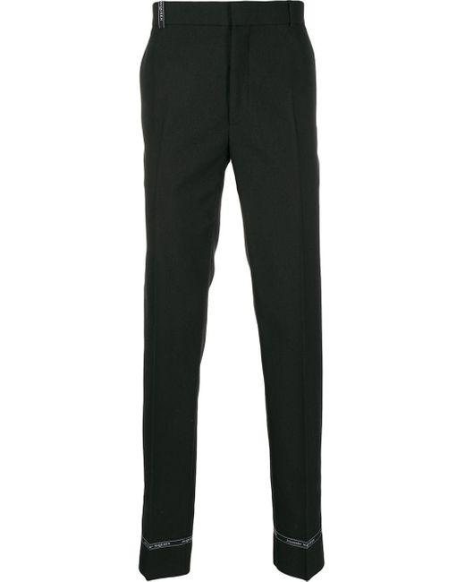 メンズ Alexander McQueen ロゴ テーラードパンツ Black