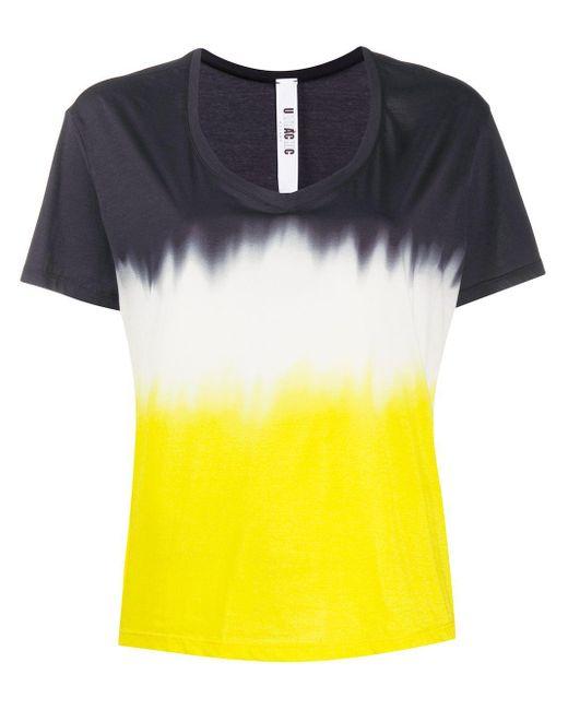 Ultrachic Camiseta con estampado tie-dye de mujer de color azul 4xqdy