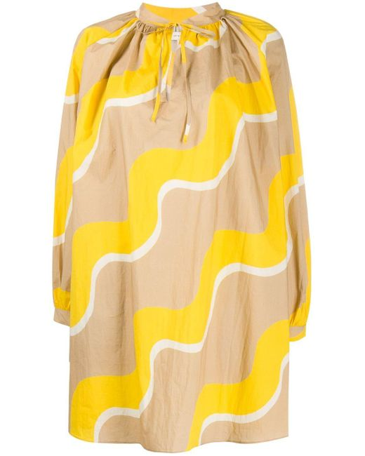 Chinti & Parker タイネック ドレス Yellow
