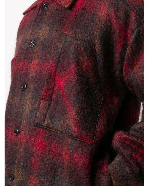 メンズ Nicholas Daley チェック シャツジャケット Red
