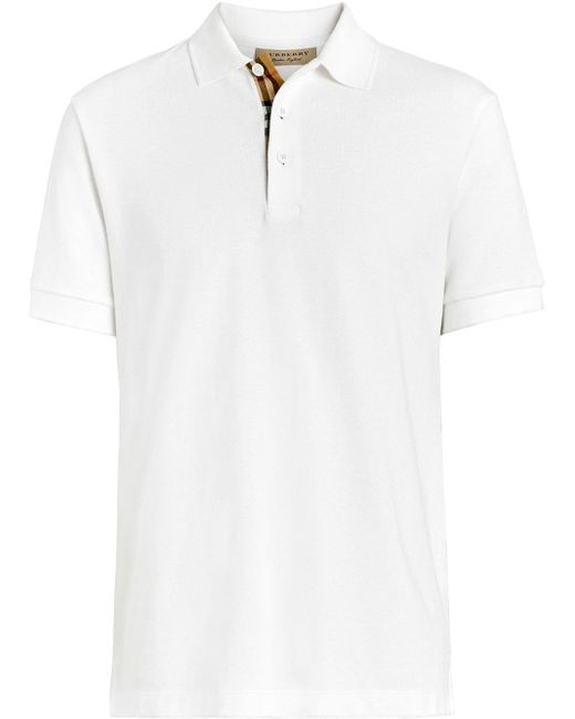 メンズ Burberry クラシック ポロシャツ White