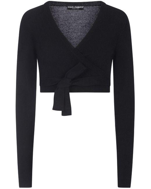 Укороченный Кардиган С Запахом Dolce & Gabbana, цвет: Black