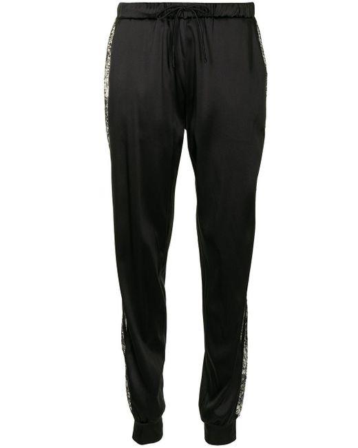 Pantaloni con ricamo di Carine Gilson in Black