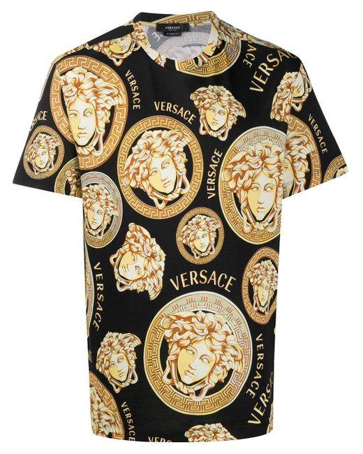 Versace Black Medusa Amplified-print T-shirt for men